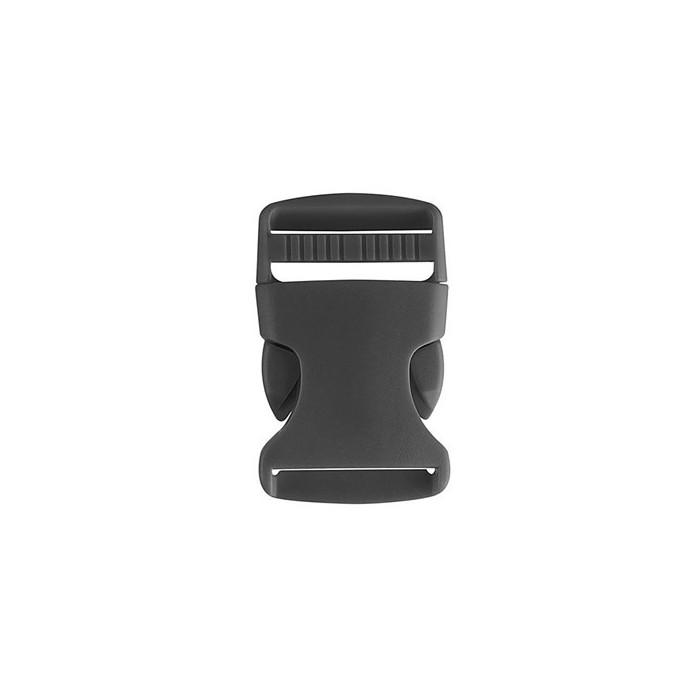 Black plastic buckle / closure, 32 mm, 2 pieces