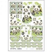 Marij Rahder - Patterned sheet Panda