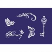 Stencil Vintage Beauty A5