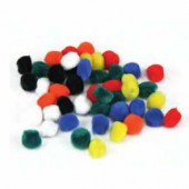 Pompons 25mm, mix, 25 pces