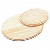 Planchette en bois ovale 22.5cm