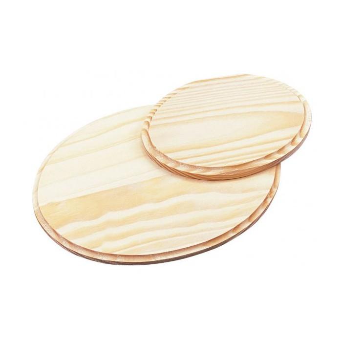 Wooden board, oval, 22.5cm