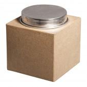 Boîte carrée en papier mâché 10x10x11cm