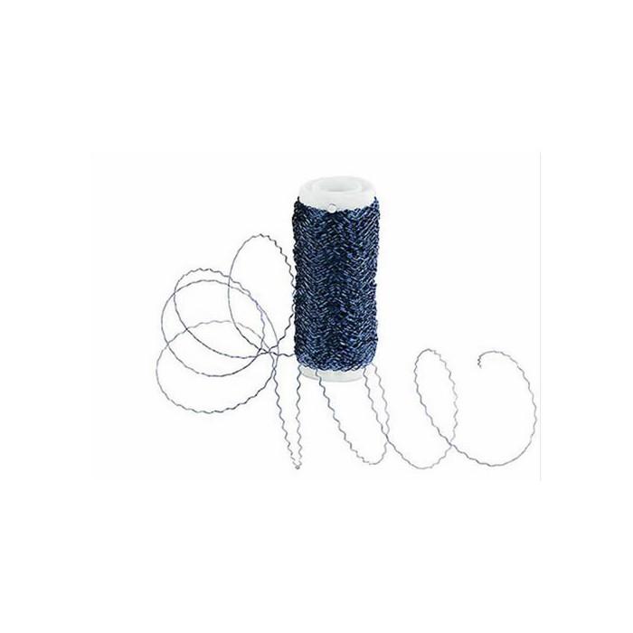 Decorative wire (waves), blue, Ø 0,3mm/50m