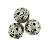 Perles en métal rondes 15mm, 2 pièces