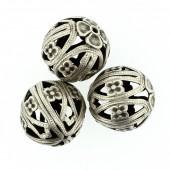 Perles en métal rondes 19mm, 2 pièces