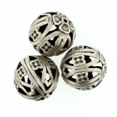 Round beads, 19mm, 2 pces