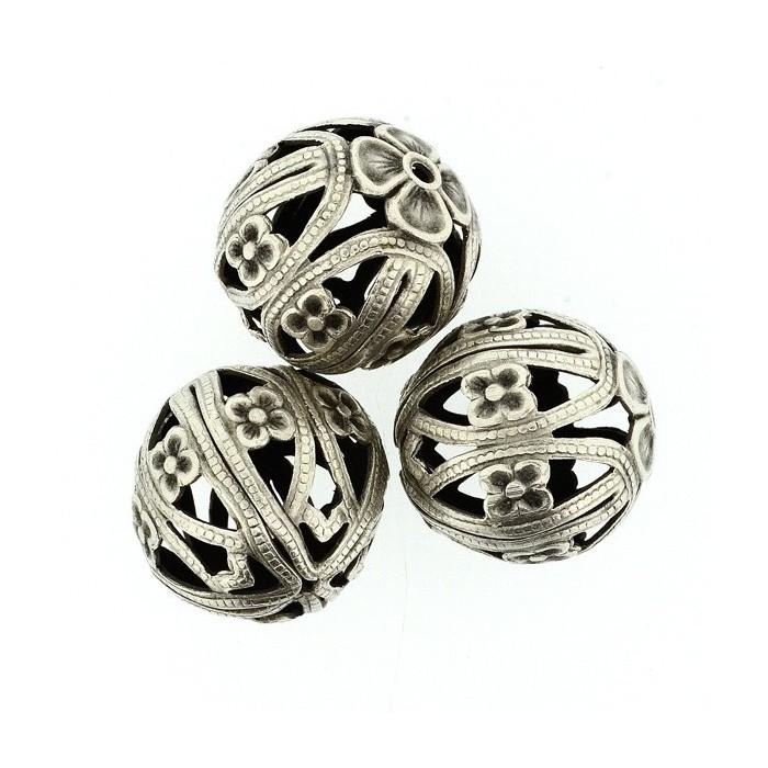 Round beads, 19mm, 2 pces