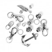 Paracord set argent, 17 pcs