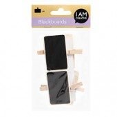 Mini black board with peg, 4 pcs