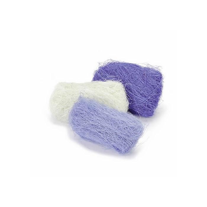 Abaca fibres, 3x10g, blue