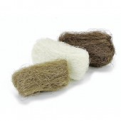 Abaca fibres, 3x10g, brown