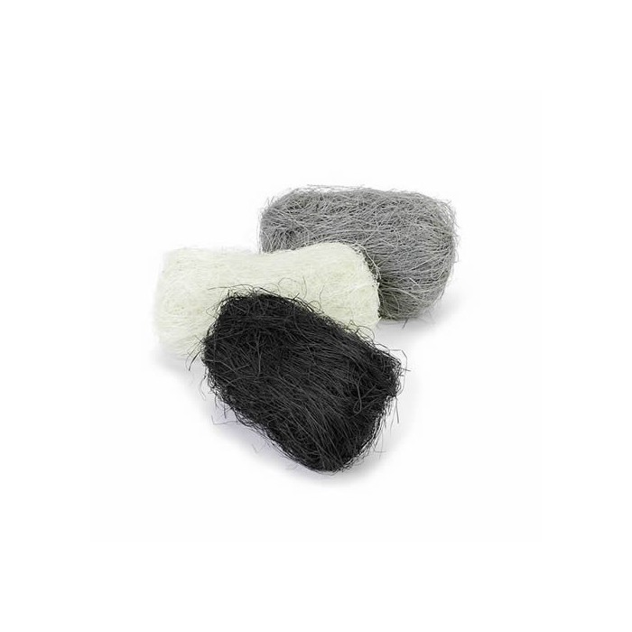 Abaca fibres, 3x10g, black