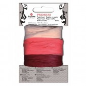 Paper raffia, 30m, rose/bordeaux
