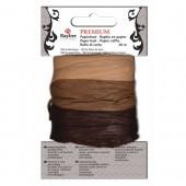 Paper raffia, 30m, brown / beige