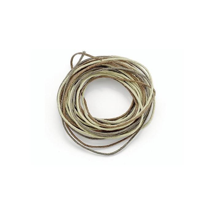 Waxed cord, brown mix, 3 pcs
