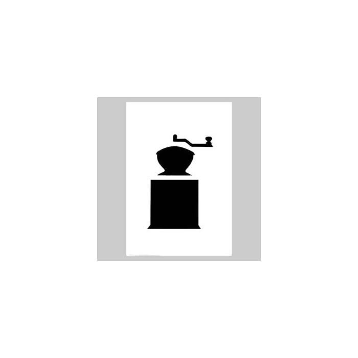 Set 4 die-cut cards coffee grinder and envelopes