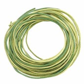 Waxed cord, green mix, 3 pcs