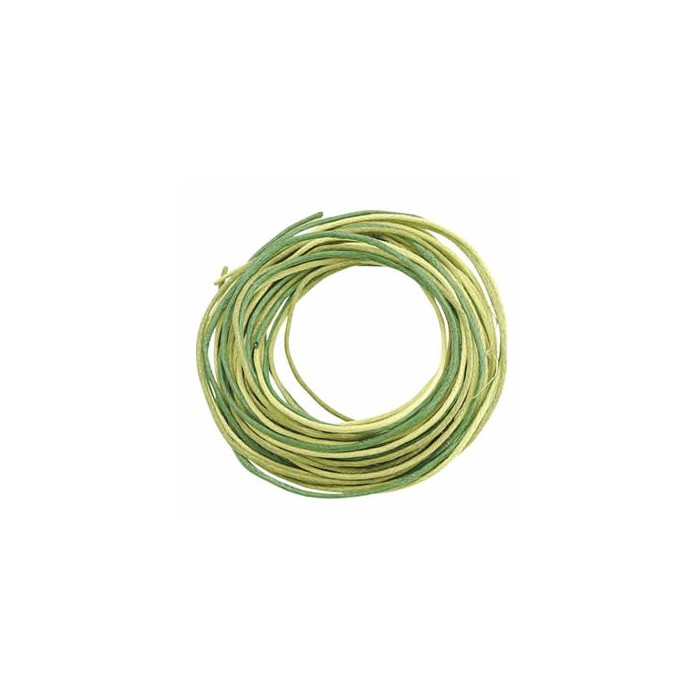 Waxed cord, green mix, 3 pcs
