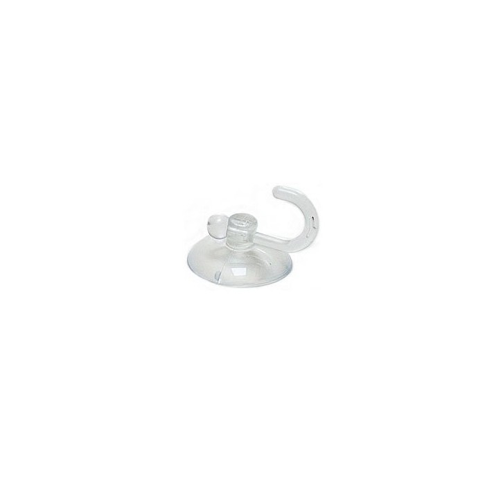 Suction cup 30mm with hook, 6 pcs
