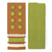 Textile set Lili Rose, polka dots green