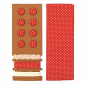 Textile set Lili Rose, polka dots red