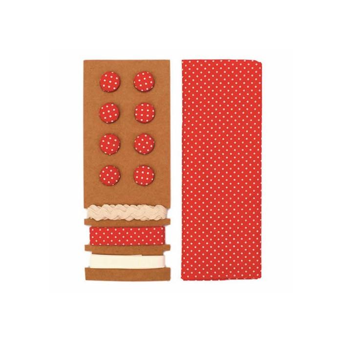 Textile set Lili Rose, polka dots red