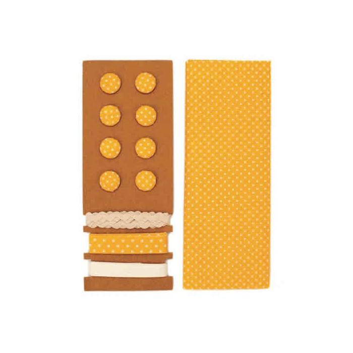 Textile set Lili Rose, polka dots yellow