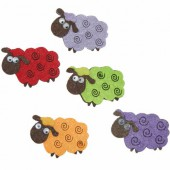 Felt sheep, 50mm, 6 pcs