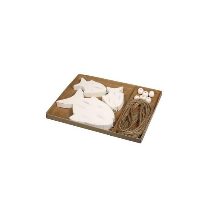 guirlande de poisson en bois. Black Bedroom Furniture Sets. Home Design Ideas