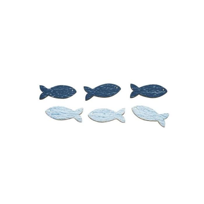 Wooden fishes, 3.5cm, 8 pcs