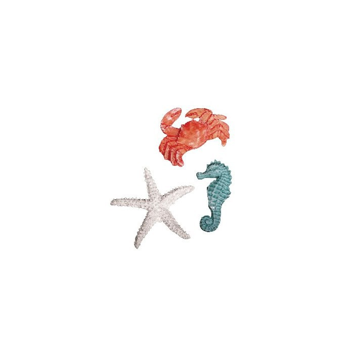 "Polyresin objects ""sea"",  4-6cm, 3 pcs"