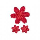 Motifs à fixer au fer à repasser, Fleurs, rouge