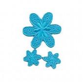 Motifs à fixer au fer à repasser, Fleurs, bleu