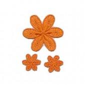 Motifs à fixer au fer à repasser, Fleurs, orange