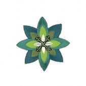 Motif à fixer au fer à repasser, Fleur, vert