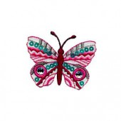 Motif à fixer au fer à repasser, papillon, 6.5x4cm
