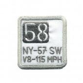 Iron-on motif  58 NY-57, 4.7x4.7cm