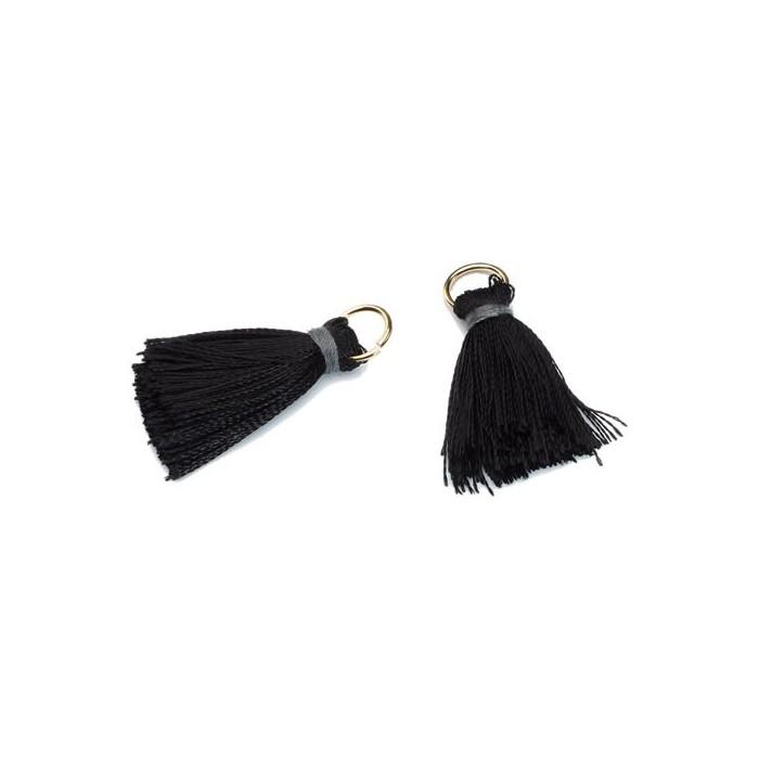 Tassel 20mm, black, 2 pcs