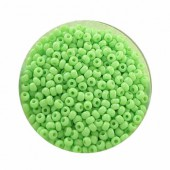 Rocailles 2.6mm, lime green, 17g