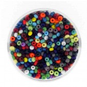 Mix of rocailles, 17g, bright colours, 2.6mm