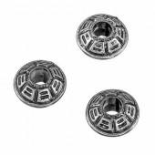 Perles en plastique aspect métal , 10mm, 15g