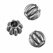 Plastic beads ball, metal look, 10mm, 15g