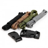 Paracord set Military, 4x1.4m + 2 clips