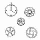 Steampunk gears, 18-30mm, 10 pcs