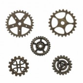 Steampunk gears, 17-25mm, 10 pcs