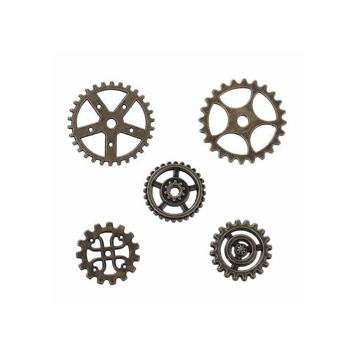 Steampunk gears, 17-25mm, 10 pcs