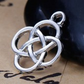 Hanging celtic knot, 18x15mm, 4 pcs