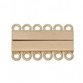 Multi-strand mangetic clasp, 6 eyelets, 35x22mm, 1 pce