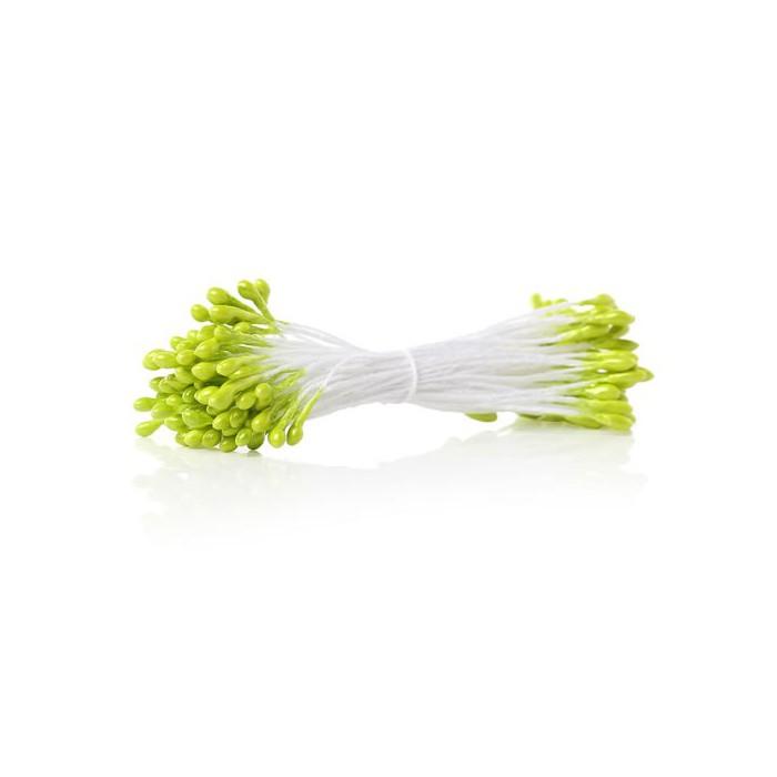 Pistils, 2mm, light green , +/- 82 heads